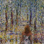 """""""Droga przez las"""" 220x700 cm. olej na płótnie 2013 r. / """"Forest path"""" oil on canvas"""