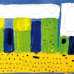 """""""Pole w Nowoberezowie"""" 45x61 cm. olej na płótnie 2003r. / """"Field in Nowoberezowo"""" oil on canvas"""