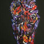 """""""Portret Witkacego"""" olej na płótnie 40x30 cm. 2015 / """"Portrait of Witkacy"""" oil on canvas"""