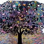 """Drzewo Życia"" 150x200 cm. olej na pł. 2003 r. / ""Tree of Life"" oil on canvas"