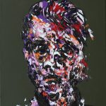 """Portret Francisa Bacona"" olej na płótnie 50x40 cm. / ""Portrait of Francis Bacon"" oil on canvas"