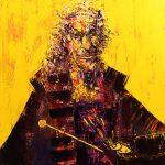 """""""Rembrandt van Rijn portret"""", format 130x100 cm. olej na pł. 2015 r."""