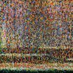 """Ogród"" 220x 420 cm.  olej na płótnie 2013 r. / ""Garden"" oil on canvas"